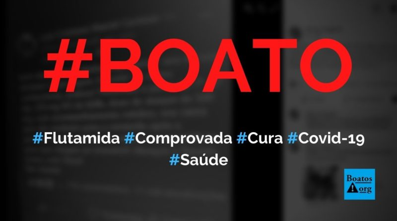 Flutamida é comprovada como a cura da Covid-19, diz boato (Foto: Reprodução/Facebook)
