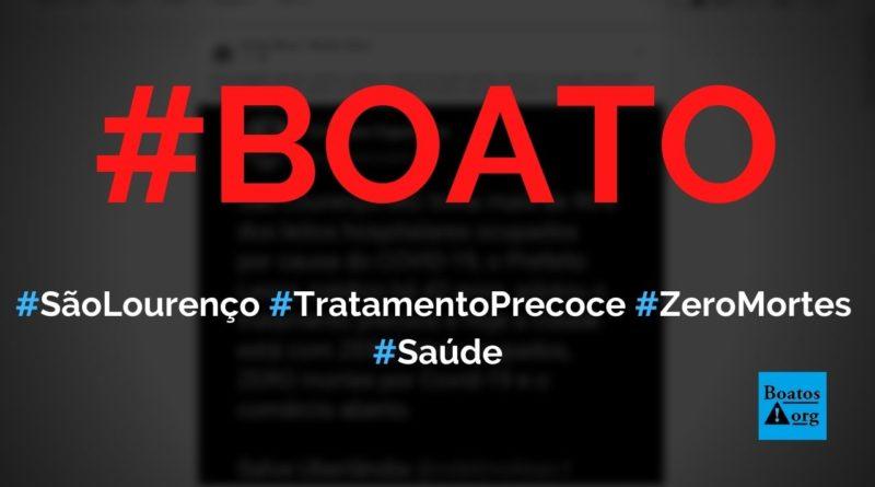 São Lourenço (MG) zerou mortes por Covid-19 com tratamento precoce, diz boato (Foto: Reprodução/Facebook)