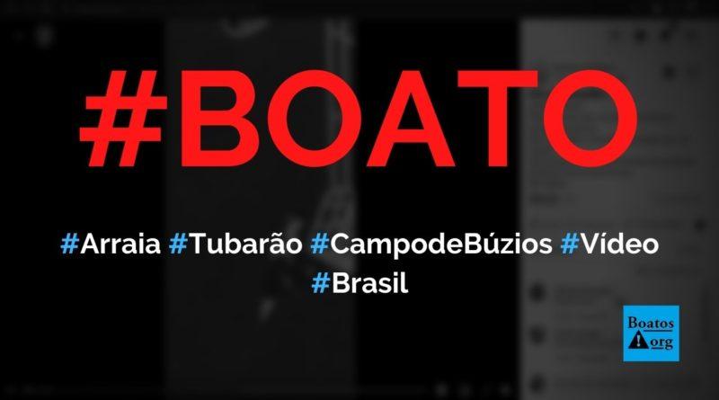 Arraia jamanta gigante é filmada junto a tubarão no Campo de Búzios, diz boato (Foto: Reprodução/Facebook)