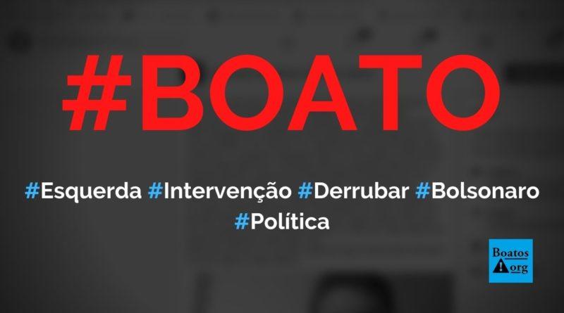 Chefes das Forças Armadas iriam fazer intervenção militar de esquerda para tirar Bolsonaro, diz boato (Foto: Reprodução/Facebook)