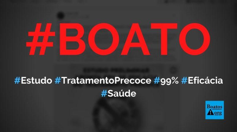 Estudo em Sorocaba prova que tratamento precoce com Kit Covid tem 99% de eficácia, diz boato (Foto: Reprodução/Facebook)