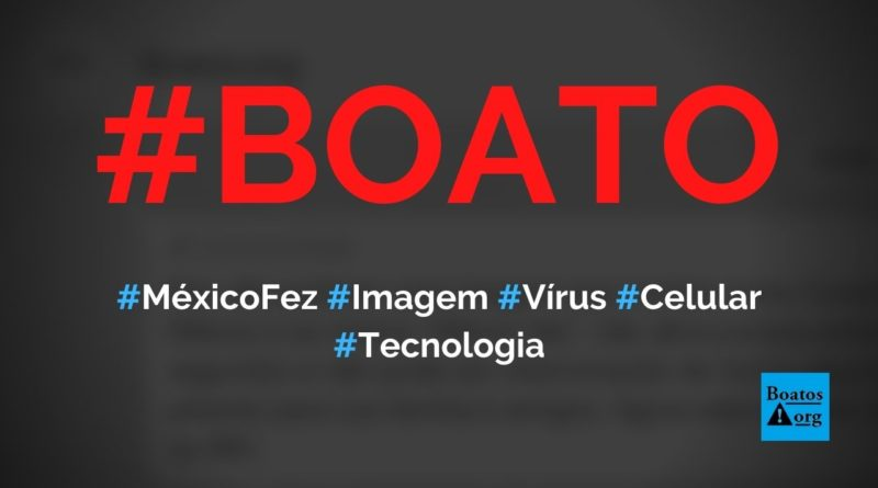 """""""México fez"""" é um vírus em uma imagem que mostra Covid-19 curada no país, diz boato (Foto: Reprodução/Facebook)"""