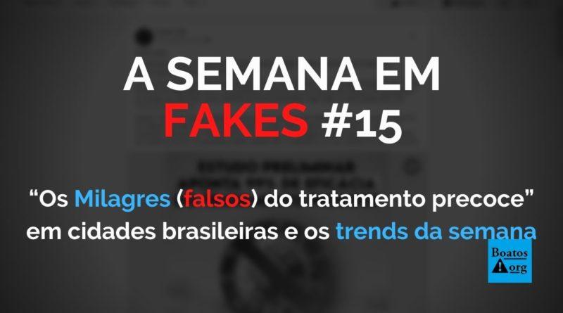 """""""Milagres do tratamento precoce"""" em cidades brasileiras reforçam teses falsas sobre remédios sem eficácia contra Covid-19, diz boato (Foto: Reprodução/Facebook)"""