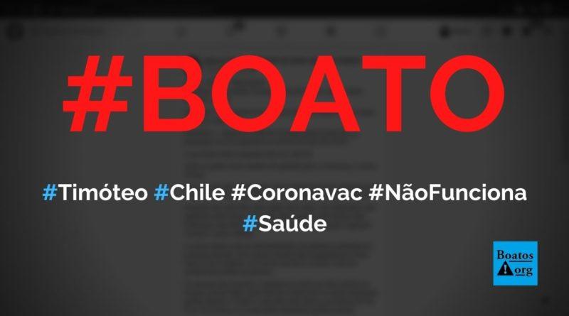 Morte de Agnaldo Timóteo, Alberto Fernández com Covid-19 e surto no Chile provam que Coronavac não funciona, diz boato (Foto: Reprodução/Facebook)