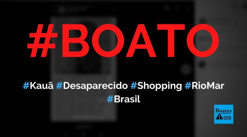 Kauã foi raptado no shopping RioMar e está desaparecido, diz boato (Foto: Reprodução/Facebook)