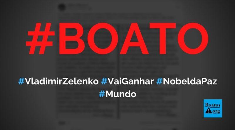 Vladimir Zelenko vai ganhar o prêmio Nobel da Paz por defender hidroxicloroquina, diz boato (Foto: Reprodução/Facebook)