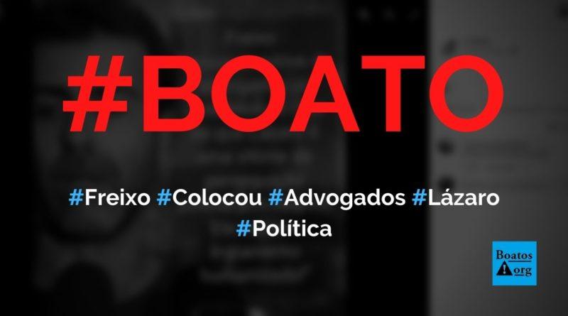 Freixo diz que colocou advogados para defender Lázaro e condenar perseguição policial, diz boato (Foto: Reprodução/Facebook)