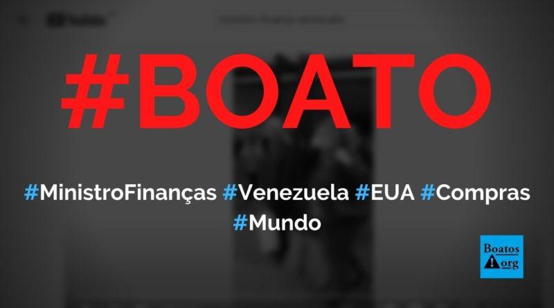 Ministro das Finanças da Venezuela é flagrado fazendo compras nos EUA, diz boato (Foto: Reprodução/Facebook)