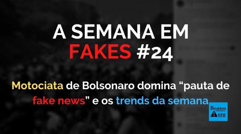 "Motociata de Bolsonaro domina ""pauta de fake news"" da semana"