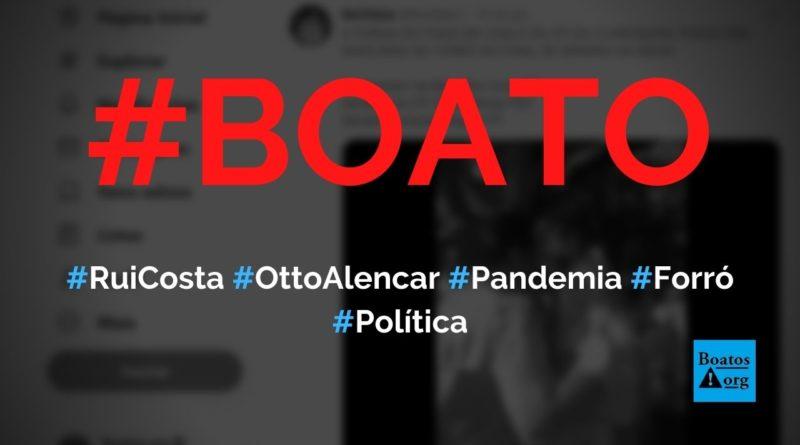 Rui Costa, Jacques Wagner e Otto Alencar são filmados no forró durante pandemia, diz boato (Foto: Reprodução/Facebook)