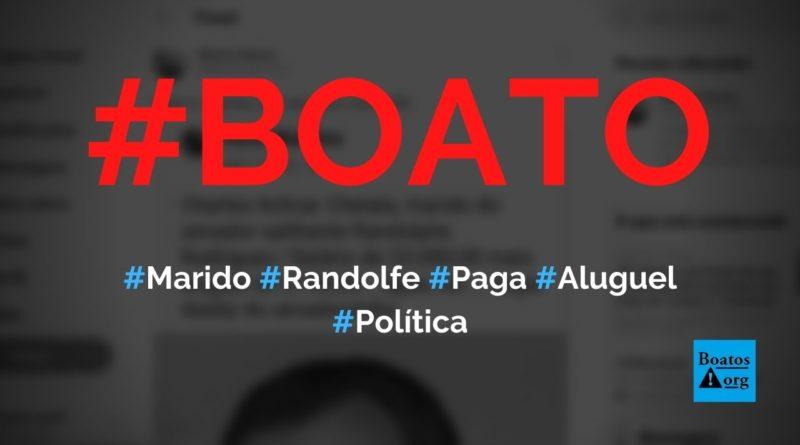 Marido de Randolfe Rodrigues paga aluguel e salário de R$ 23 mil para senador, diz boato (Foto: Reprodução/Facebook)
