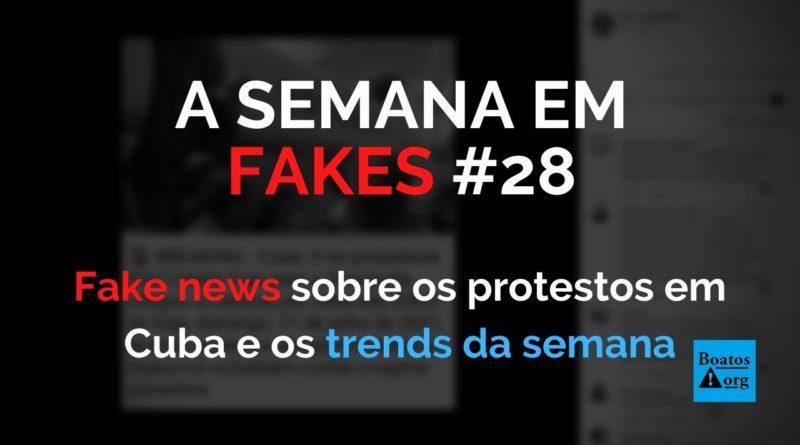 """Protestos em Cuba suscitam fake news """"politizadas"""" no Brasil (Foto: Reprodução/Facebook)"""