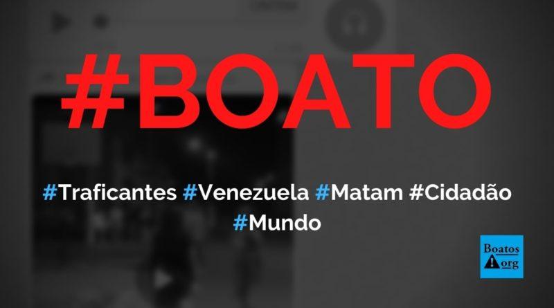 Traficantes da Venezuela matam casal que reclamou de comida distribuída pelo governo, diz boato (Foto: Reprodução/WhatsApp)