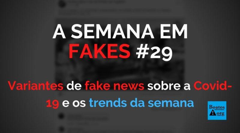 """""""Variantes"""" de fake news sobre Covid-19 também ameaçam combate à pandemia"""