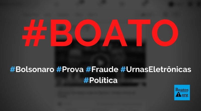 Bolsonaro dá xeque-mate no TSE e STF e prova fraude nas urnas eletrônicas, diz boato (Foto: Reprodução/Facebook)