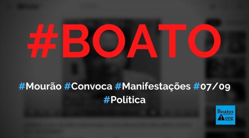 Mourão convoca povo para manifestações de 7 de setembro de 2021, mostra vídeo, diz boato (Foto: Reprodução/YouTube)