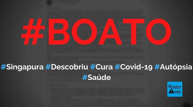 Singapura descobriu que Covid-19 é causada por uma bactéria exposta à radiação, diz boato (Foto: Reprodução/Facebook)