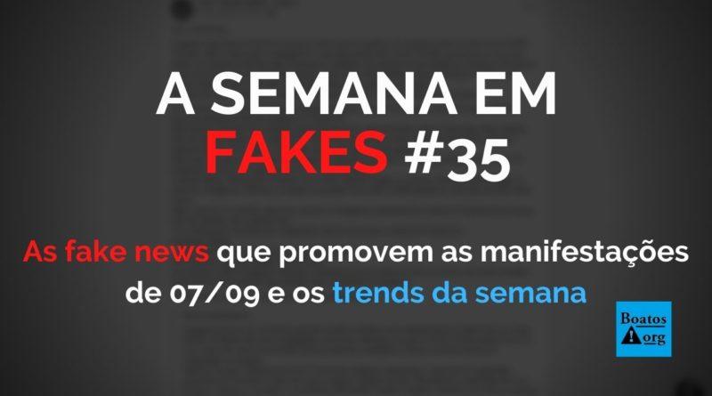 Fake news promovem manifestações de 7 de setembro ameaçam democracia (Foto: Reprodução/Facebook)