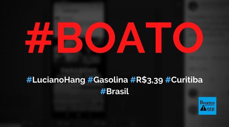 Luciano Hang abriu um posto em Curitiba e está vendendo gasolina a R$ 3,39, diz boato (Foto: Reprodução/Facebook)